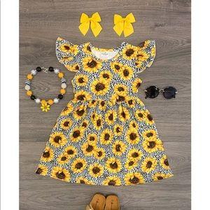 Sunflower cheetah dress